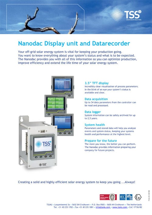 Nanodac Display unit and Datarecorder