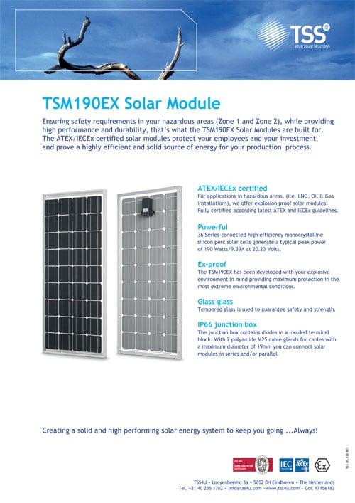 Solar module TSM190EX