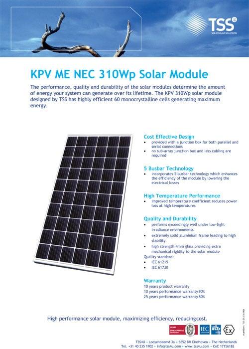 KPV ME NEC 310Wp Solar Module